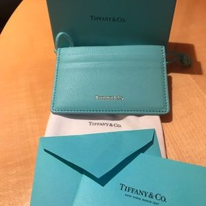 Authentic Tiffany & Co Calfskin Leather Card Case